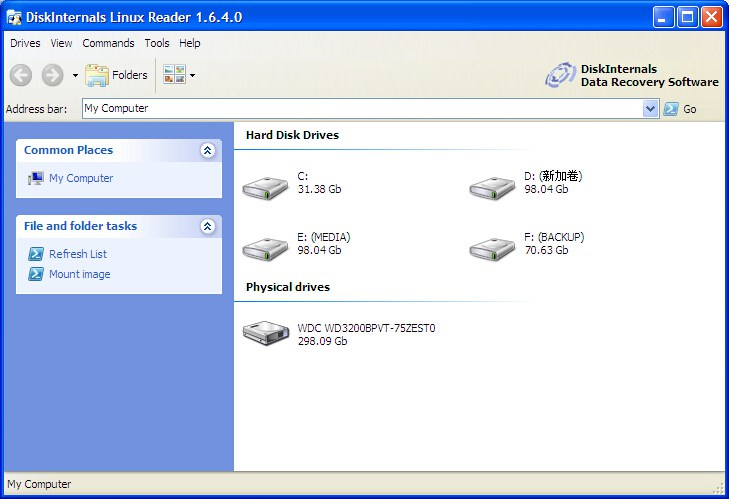查看Linux硬盘分区软件Linux Reader