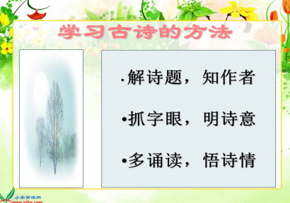 23课古诗词三首ppt
